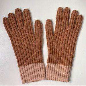 Madewell Colorblock Merino Wool Texting Gloves